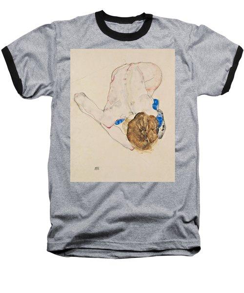 Nude With Blue Stockings, Bending Forward Baseball T-Shirt