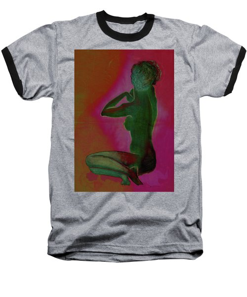 Nude Woman Baseball T-Shirt