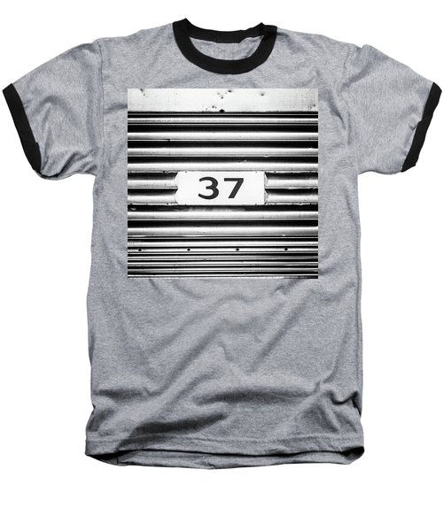 Baseball T-Shirt featuring the photograph Number 37 Metal Square by Terry DeLuco