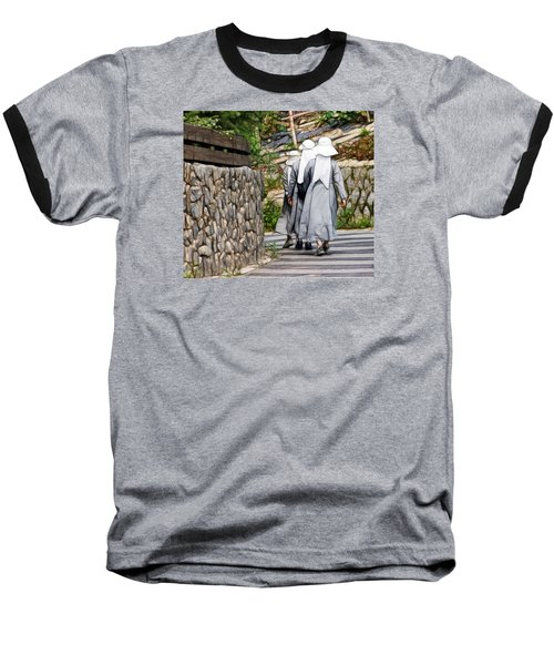 Baseball T-Shirt featuring the photograph Nuns In A Row by Cameron Wood
