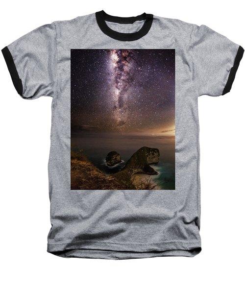Nusa Penida Beach At Night Baseball T-Shirt