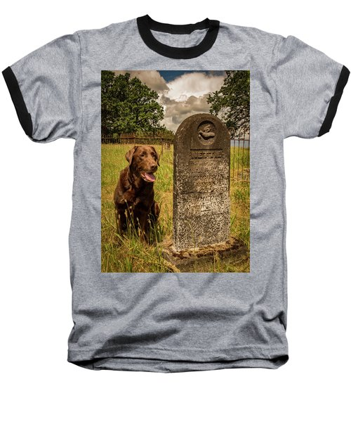 Baseball T-Shirt featuring the photograph Nute In The Cemetery by Jean Noren