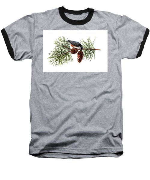 Nuthatch 1 Baseball T-Shirt