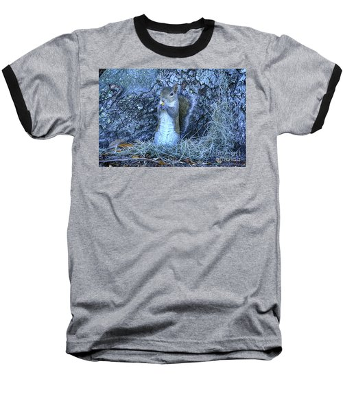 Baseball T-Shirt featuring the photograph Nuts Anyone by Deborah Benoit