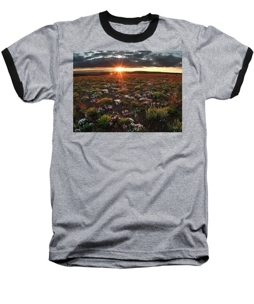 Baseball T-Shirt featuring the photograph Nuttalls Linanthastrum by Leland D Howard