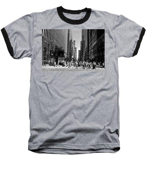 Nyc 42nd Street Crosswalk Baseball T-Shirt