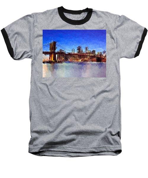 Nyc Abstract  Baseball T-Shirt