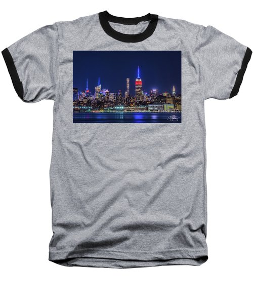Nyc At The Blue Hour Baseball T-Shirt