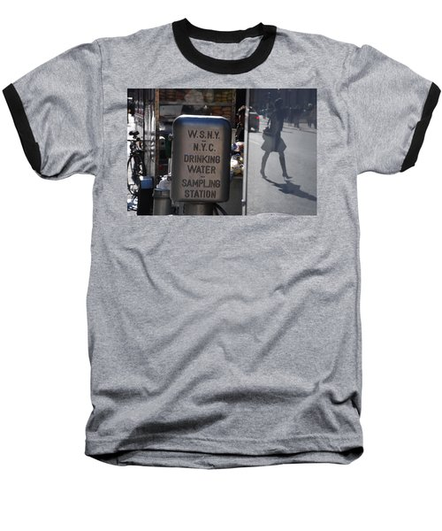 Baseball T-Shirt featuring the photograph Nyc Drinking Water by Rob Hans