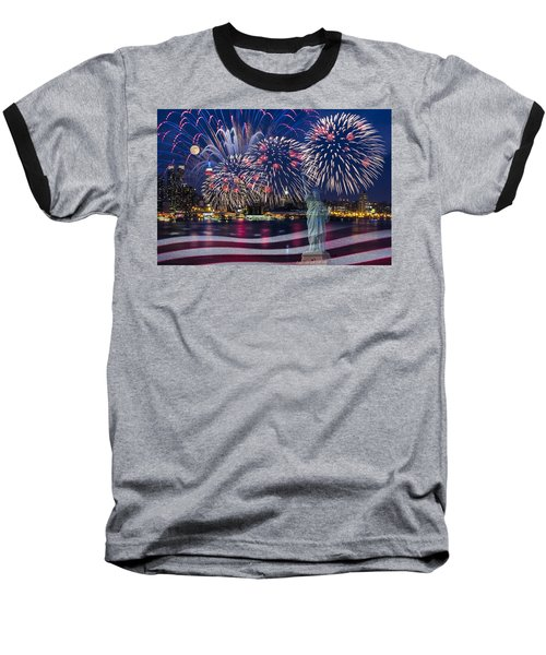 Nyc Fourth Of July Celebration Baseball T-Shirt