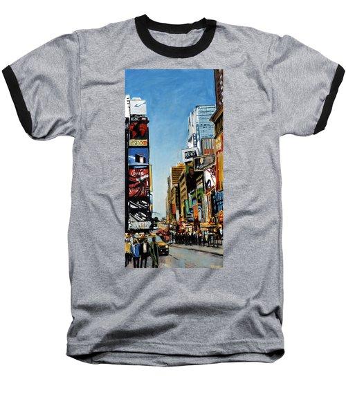 Nyc IIi Cab Dodging Baseball T-Shirt