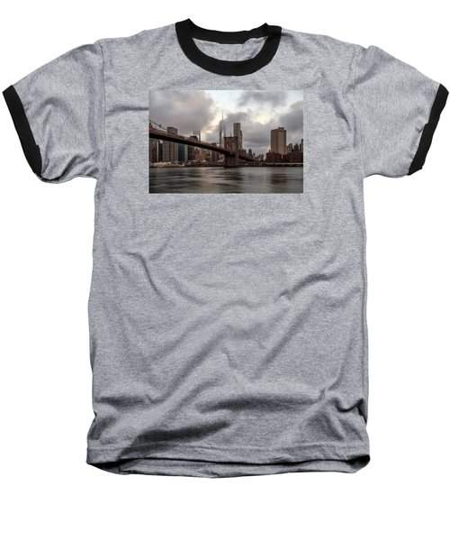 Nyc In The Am Baseball T-Shirt by Anthony Fields