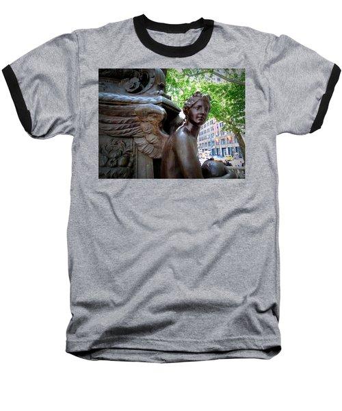 Nyc Library Angel Baseball T-Shirt