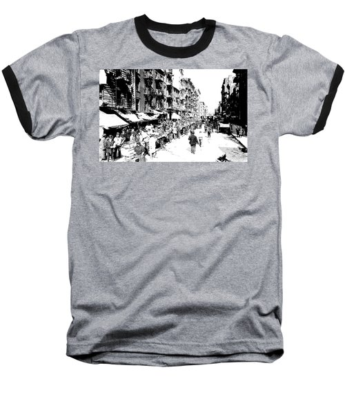 Nyc Lower East Side - 1902 -market Day Baseball T-Shirt by Merton Allen