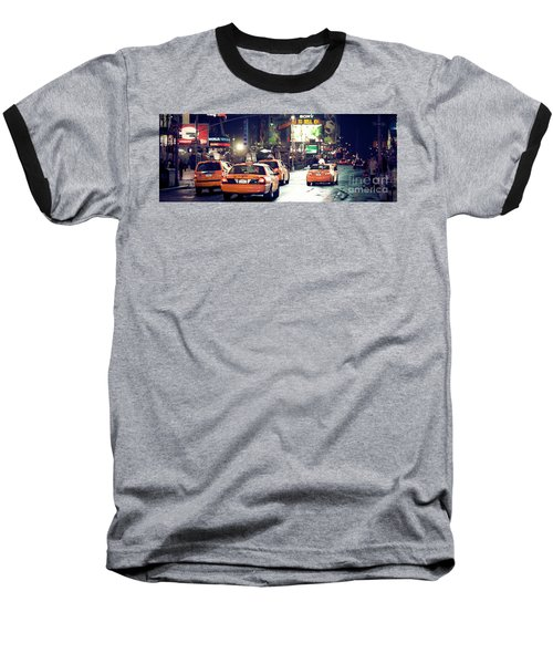 New York City Night Drive Baseball T-Shirt