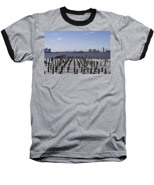 New York City Piers  Baseball T-Shirt by Henri Irizarri