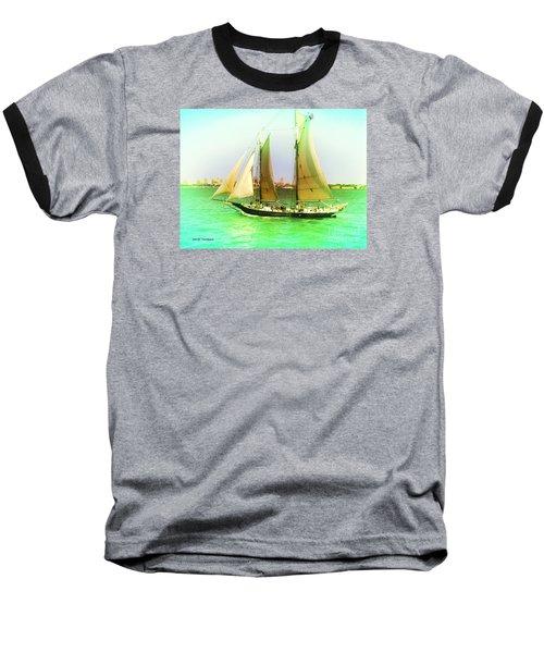 Baseball T-Shirt featuring the painting Nyc Sailing by Denise Tomasura