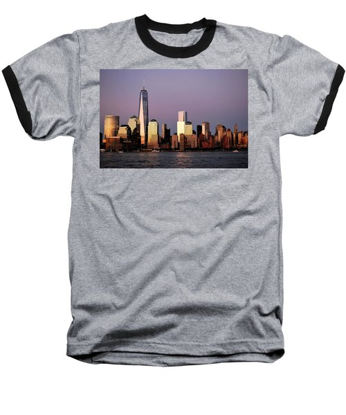 Nyc Skyline At Dusk Baseball T-Shirt