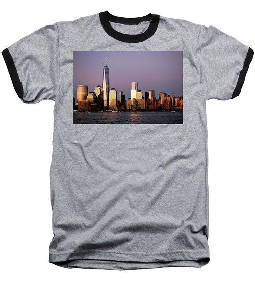 Nyc Skyline At Dusk Baseball T-Shirt