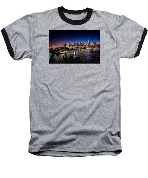 Nyc Skyline Baseball T-Shirt