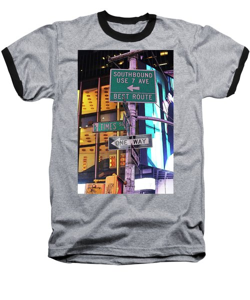 Nyc Street Sign Baseball T-Shirt by Kate Purdy