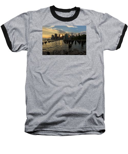 Nyc Sunset Baseball T-Shirt
