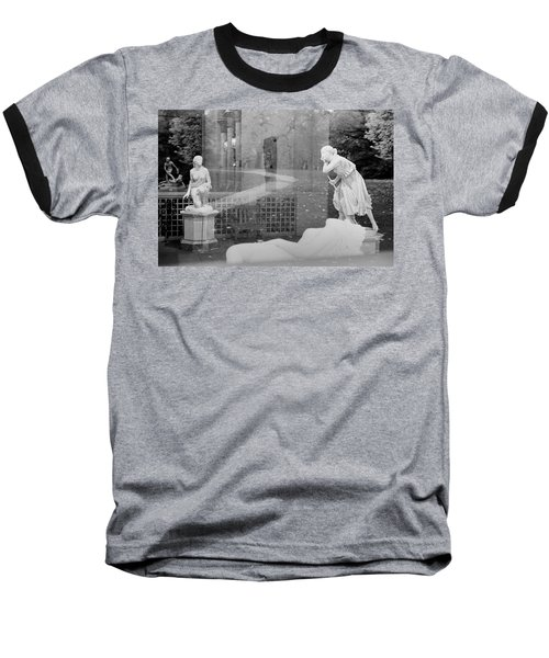 Nyc Whispering Statues Baseball T-Shirt