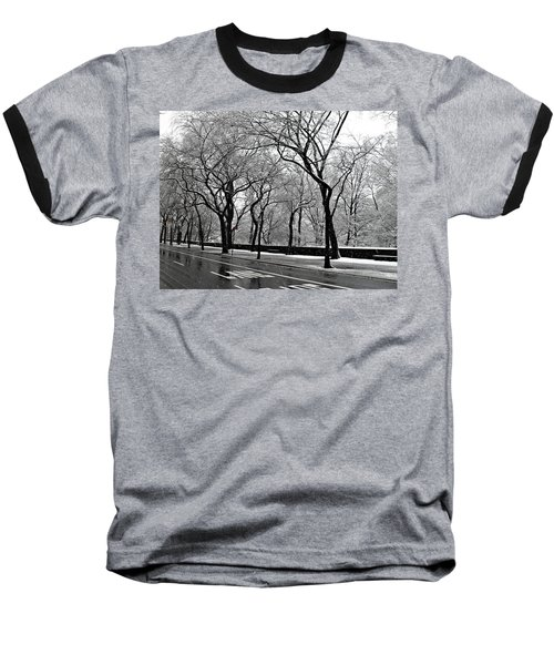 Nyc Winter Wonderland Baseball T-Shirt