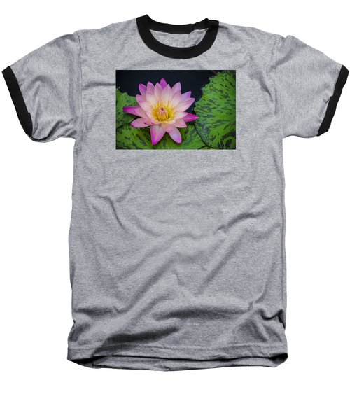 Baseball T-Shirt featuring the photograph Nymphaea Hot Pink Water Lily by Deborah Smolinske