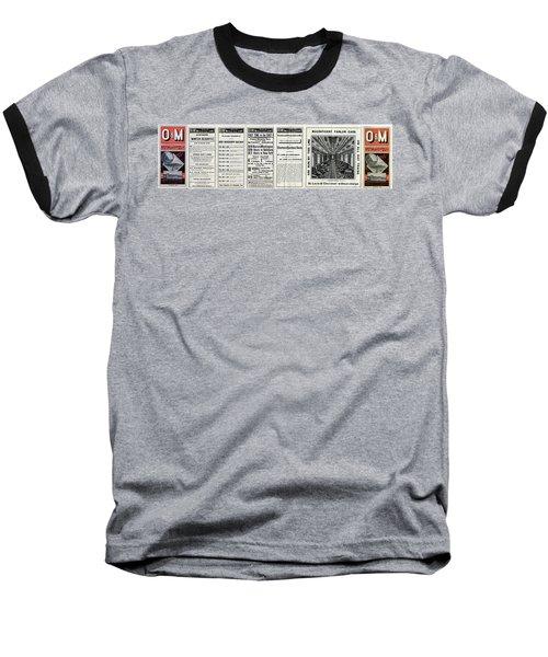 O And M Timetable Baseball T-Shirt