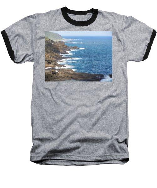 Oahu Coastline Baseball T-Shirt by Karen J Shine