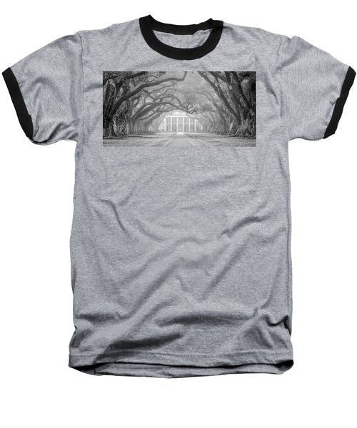 Oak Alley Fog Baseball T-Shirt