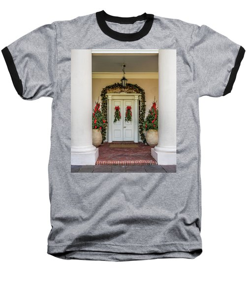 Baseball T-Shirt featuring the photograph Oak Alley Plantation Doors by Paul Freidlund