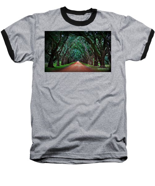 Oak Alley Road Baseball T-Shirt by Perry Webster
