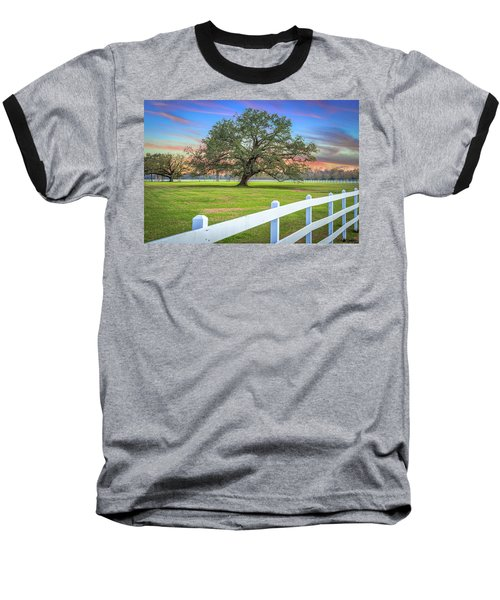 Oak Alley Signature Tree At Sunset Baseball T-Shirt