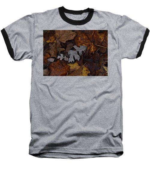 Oak And Maple Leaves Baseball T-Shirt by Tim Good