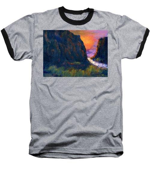 Baseball T-Shirt featuring the painting Oak Creek Canyon by Gail Kirtz