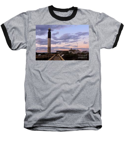 Oak Island Lighthouse Baseball T-Shirt