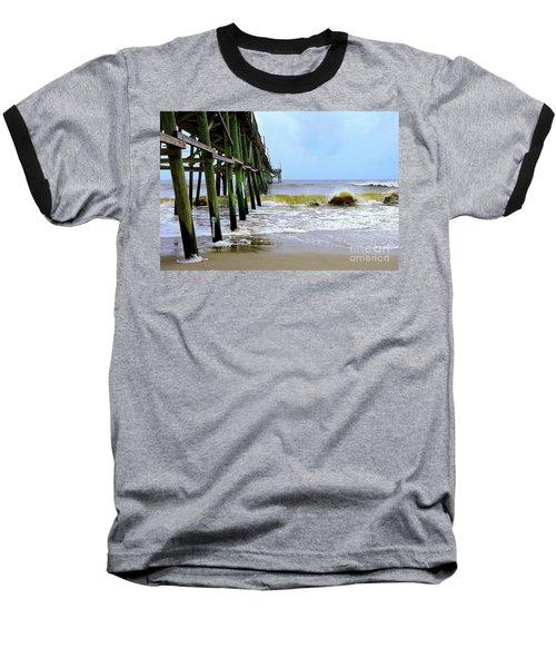 Oak Island Pier Before H.matthew Baseball T-Shirt by Shelia Kempf