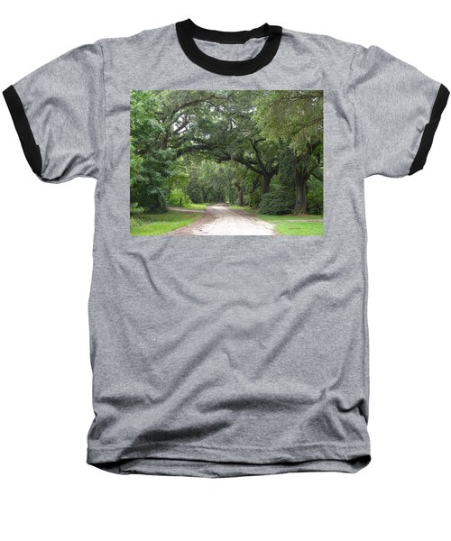 Oak Laden Back Road Baseball T-Shirt