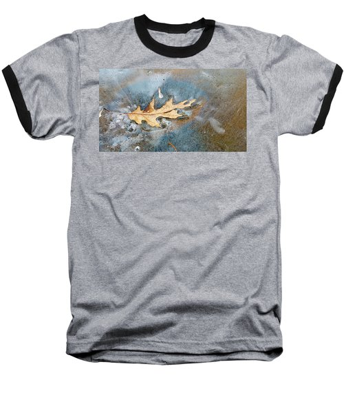 Oak Leaf Frozen On Ice Baseball T-Shirt