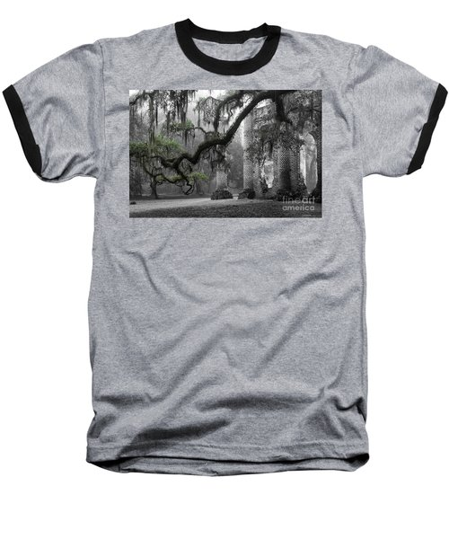 Oak Limb At Old Sheldon Church Baseball T-Shirt by Scott Hansen