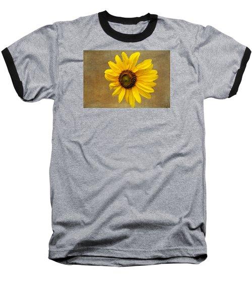 Baseball T-Shirt featuring the photograph Oak Street Sunflower by Tom Singleton