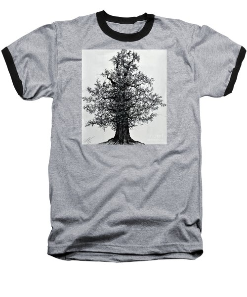 Oak Tree Baseball T-Shirt by Maja Sokolowska