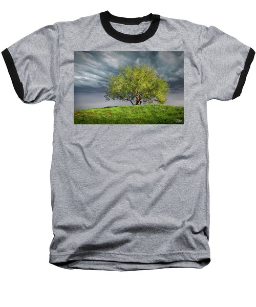 Oak Tree With Tire Swing Baseball T-Shirt by Endre Balogh