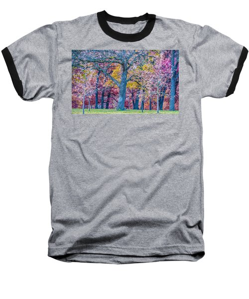 Oak Trees At Fall Baseball T-Shirt