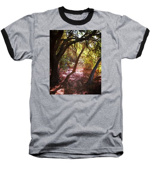 Baseball T-Shirt featuring the photograph Oaken Woodland 2 by Timothy Bulone