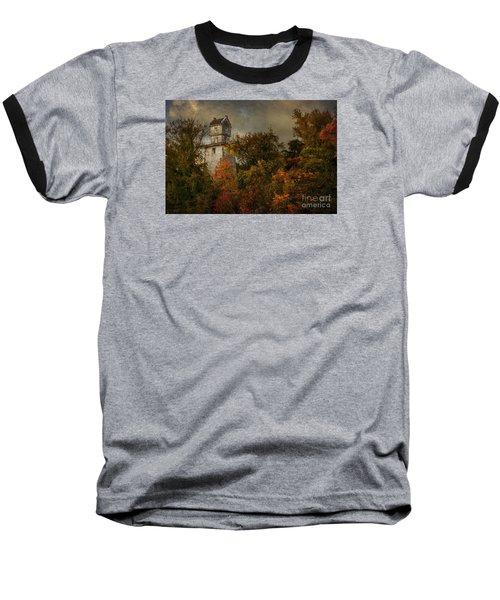 Oakhurst Water Tower Baseball T-Shirt by Debra Fedchin