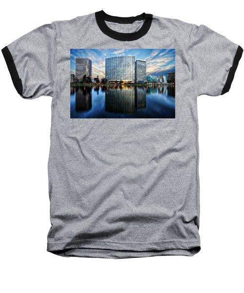 Oakland, California Cityscape Baseball T-Shirt