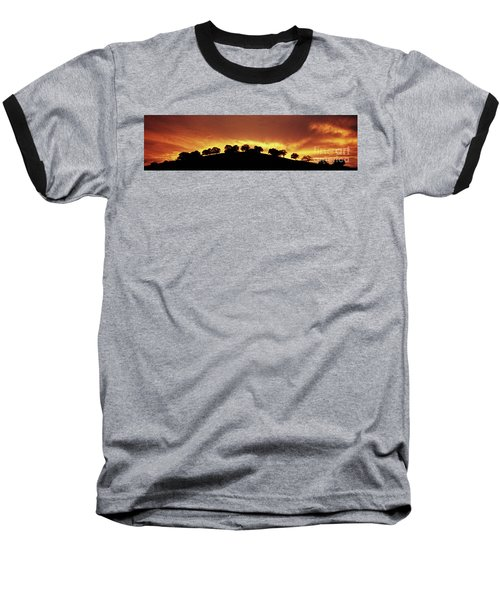 Oaks On Hill At Sunset Baseball T-Shirt by Jim and Emily Bush
